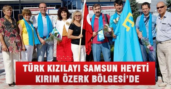Türk Kızılayı Samsun Heyeti Kırım Özerk Bölgesi'de