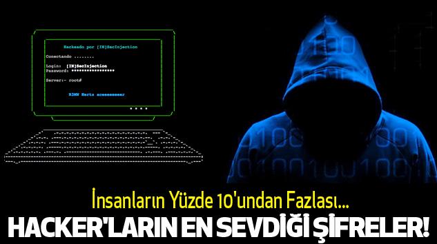 Hacker'ların en sevdiği şifreler!