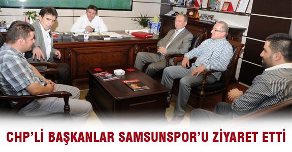 CHP'li Başkanlar Samsunspor'u Ziyaret Etti
