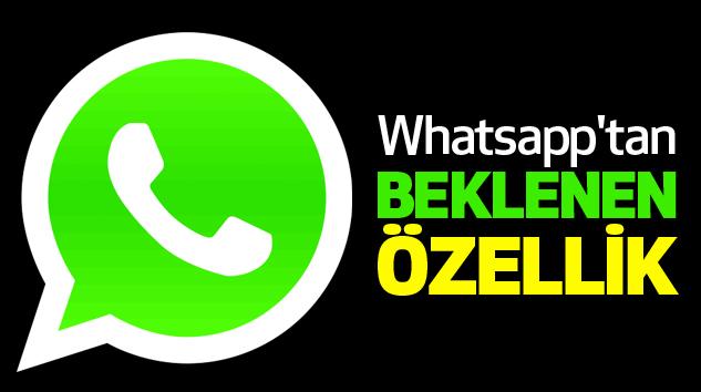 Whatsapp'tan Kullanışlı Özellik...
