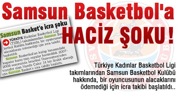 Samsun Basketbol'a Haciz Şoku