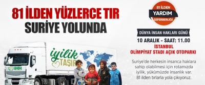 81 İlden Yüzlerce Tır Suriye Yolunda