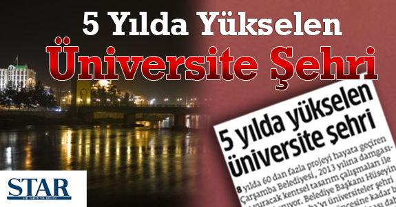 5 Yılda Yükselen Üniversite Şehri