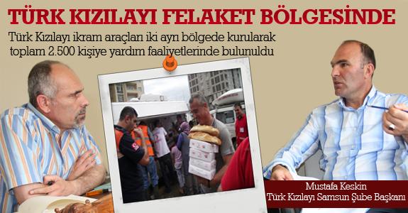 Türk Kızılayı felaket bölgesinde