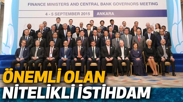Başbakan Davutuğlu: Önemli Olan Nitelikli İstihdam