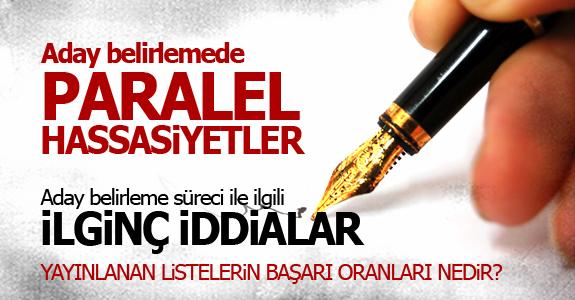 ADAY BELİRLEMEDE PARALEL HASSASİYETLER