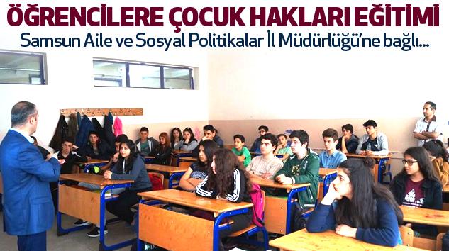 2 Bin 615 Öğrenciye Çocuk Hakları Eğitimi Verildi...