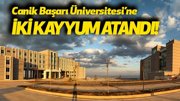 Canik Başarı Üniversitesi'ne iki kayyum atandı!
