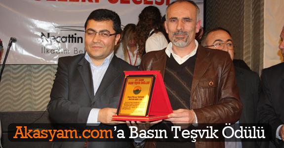 Akasyam.com'a Basın Teşvik Ödülü
