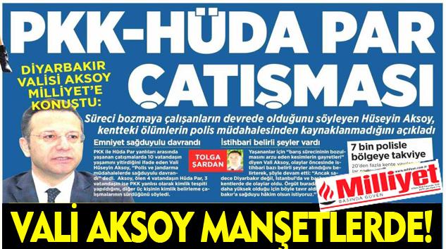 Vali Aksoy Manşetlerde