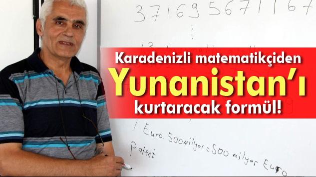Matematikçiden Yunanistan'ı kurtaracak formül