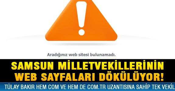 SAMSUN MİLLETVEKİLLERİNİN WEB SAYFALARI DÖKÜLÜYOR!
