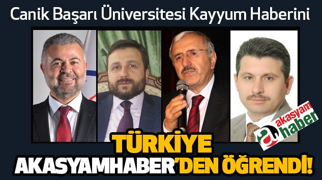 Canik Başarı Üniversitesi Kayyum Haberini Türkiye akasyamhaber'den öğrendi!
