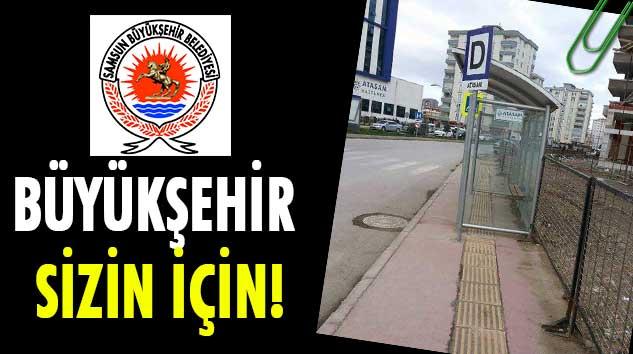 Samsun Büyükşehir Belediyesi'nin Otobüs Durağı Şaşırttı