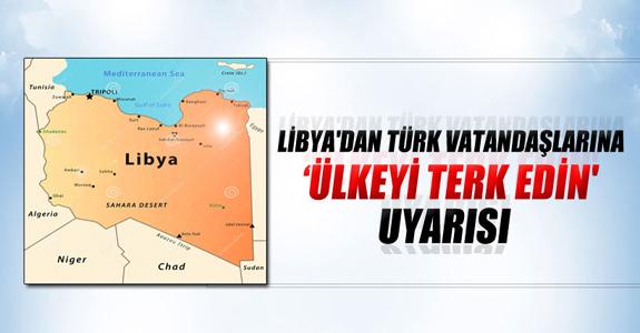'ÜLKEYİ TERK EDİN' UYARISI