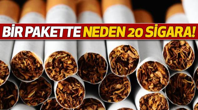 Bir pakette neden 20 sigara!