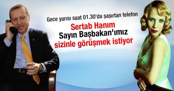 Erdoğan'dan Erener'e gece yarısı tebrik telefonu