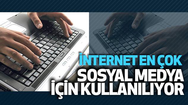 İnternet En Çok Sosyal Medya İçin Kullanılıyor