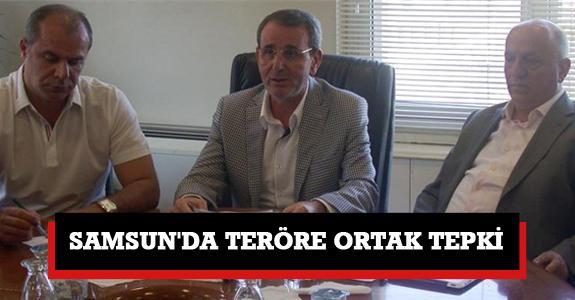 Samsun'da Teröre Ortak Tepki
