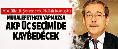 Abdüllatif Şener çok iddialı konuştu: Muhalefet Hata Yapmazsa Akp Üç Seçimi De Kaybedecek