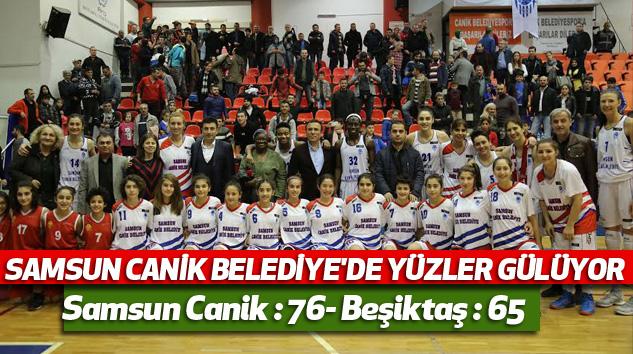Samsun Canik Basket Beşiktaş'ı eli boş gönderdi 74-65