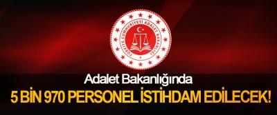 Adalet Bakanlığına 5 Bin 970 Personel İstihdam Edilecek!