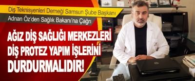Adnan Öz'den Sağlık Bakanına Çağrı