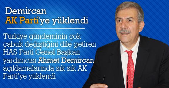 Ahmet Demircan AK Parti'ye yüklendi