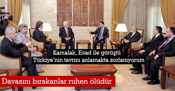 Kamalak, Esad ile görüştü