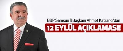Ahmet Katrancı'dan 12 Eylül Açıklaması!