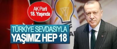 AK Parti 18. Yaşında, Türkiye Sevdasıyla Yaşımız Hep 18