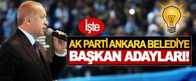 Ak parti Ankara belediye başkan adayları!