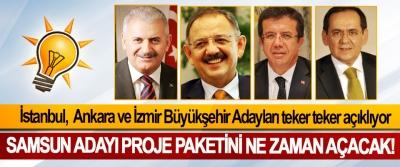 AK Parti Ankara, İstanbul ve İzmir Büyükşehir Adayları teker teker açıklıyor, Samsun Büyükşehir Belediye Başkan Adayı proje paketini ne zaman açacak!