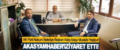 AK Parti Atakum Belediye Başkan Aday Adayı Mustafa Yeşilyurt Akasyamhaber'i ziyaret etti!