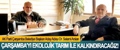 AK Parti Çarşamba Belediye Başkan Aday Adayı Dr. Selami Arslan: Çarşamba'yı ekolojik tarım ile kalkındıracağız!