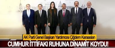 AK Parti Genel Başkan Yardımcısı Çiğdem Karaaslan Cumhur ittifakı ruhuna dinamit koydu!