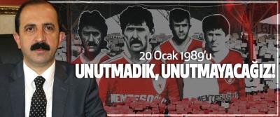 AK Parti İl Başkanı Göksel, 20 Ocak 1989'u Unutmadık, Unutmayacağız!
