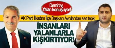 AK Parti İlkadım İlçe Başkanı Avcılar'dan Necattin Demirtaş'a sert tepki