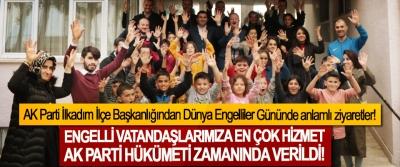 AK Parti İlkadım İlçe Başkanlığından Dünya Engelliler Gününde anlamlı ziyaretler!