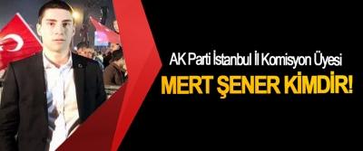 AK Parti İstanbul İl komisyon üyesi Mert Şener Kimdir!