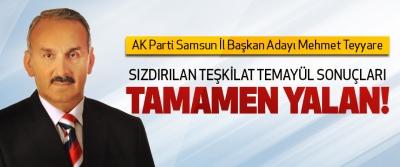AK Parti Samsun İl Başkan Adayı Mehmet Teyyare: Sızdırılan teşkilat temayül sonuçları tamamen yalan!