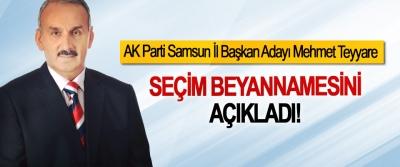 AK Parti Samsun İl Başkan Adayı Mehmet Teyyare Seçim beyannamesini açıkladı!