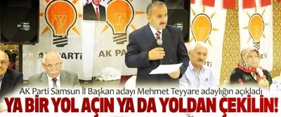 AK Parti Samsun İl Başkan adayı Mehmet Teyyare adaylığın açıkladı