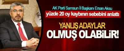 AK Parti Samsun İl Başkanı Ersan Aksu yüzde 20 oy kaybının sebebini anlattı