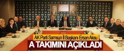 AK Parti Samsun İl Başkanı Ersan Aksu A Takımını Açıkladı