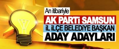 Ak Parti Samsun  İl İlçe Belediye Başkan Aday Adayları