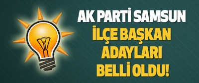 Ak Parti Samsun İlçe Başkan Adayları Belli Oldu!