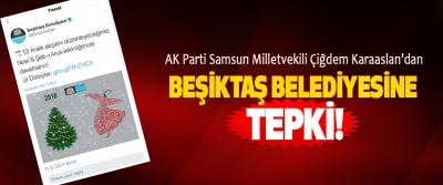 AK Parti Samsun Milletvekili Çiğdem Karaaslan'dan Beşiktaş belediyesine tepki!