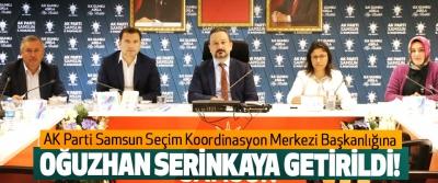 AK Parti Samsun Seçim Koordinasyon Merkezi Başkanlığına Oğuzhan serinkaya getirildi!