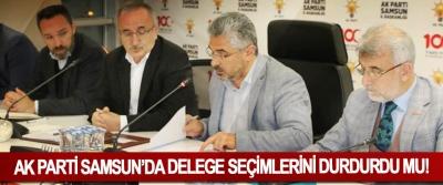 Ak Parti Samsun'da delege seçimlerini durdurdu mu!